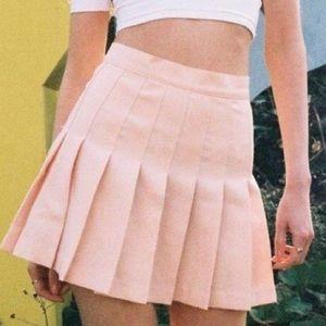 AA Pleated Peach Tennis Skirt